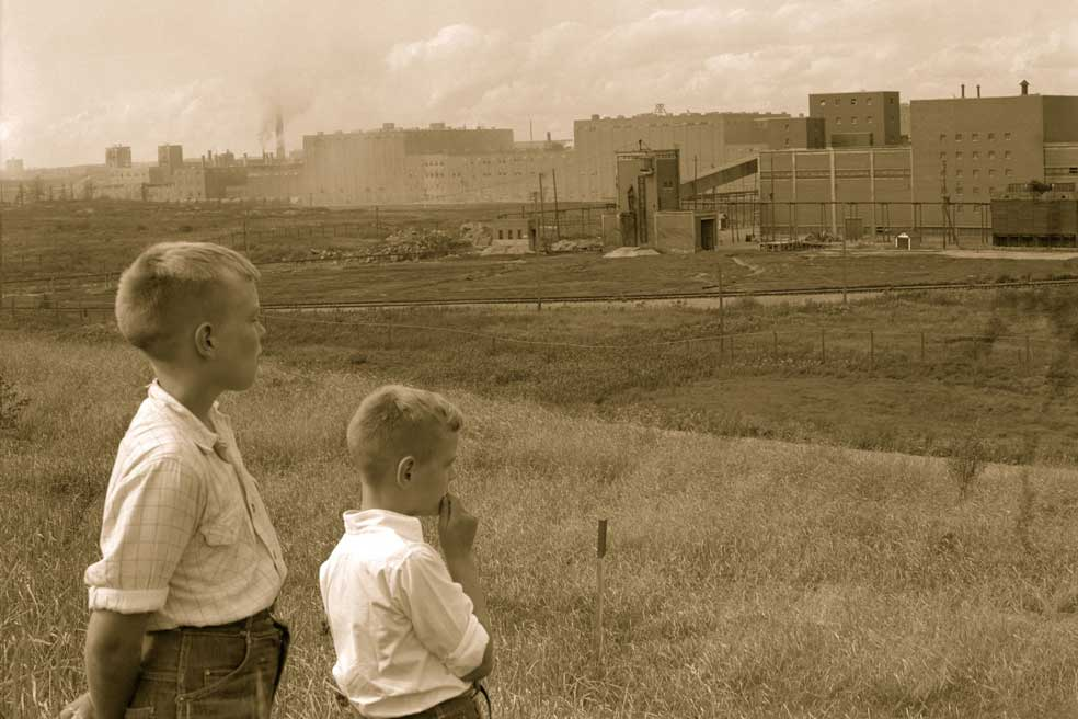 Vue des usines