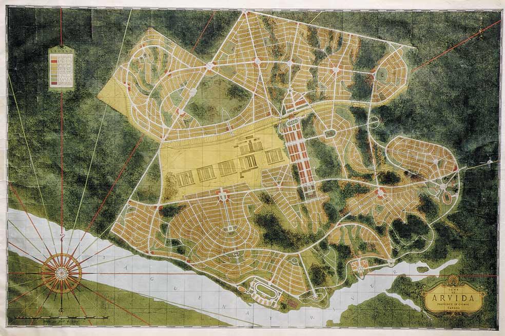 Plan de la ville d'Arvida