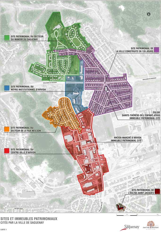 Cartographie de la Ville de Saguenay