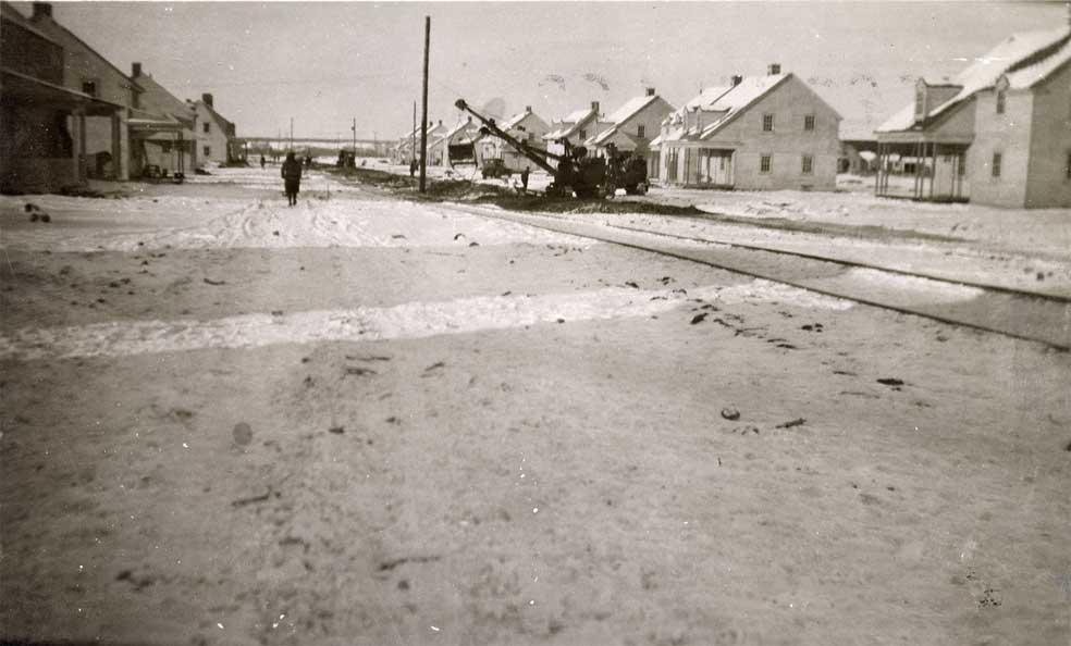 Distribution des matériaux de construction par une voie ferrée
