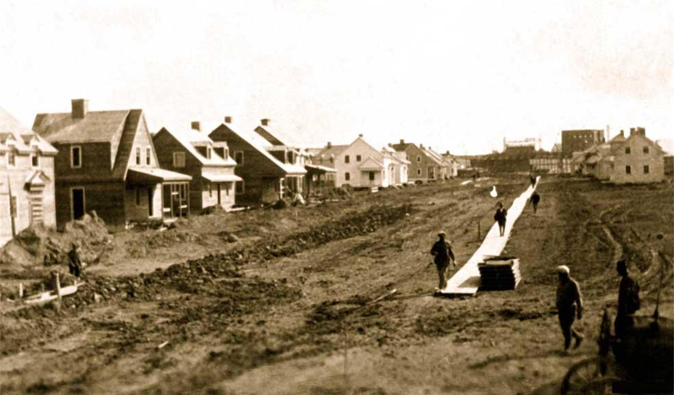 Construction de la rue Oersted
