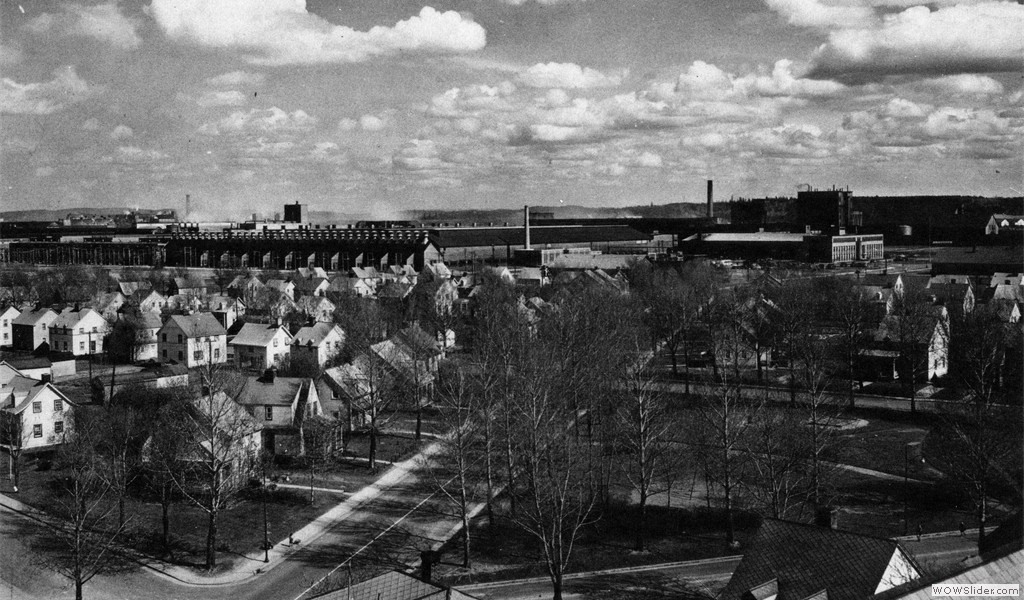 Oersted Street (first neighbourhood of Arvida), circa 1945