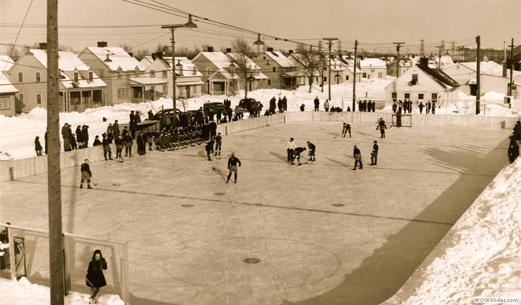 Arvida, la patinoire de la rue Moritz, vers 1930