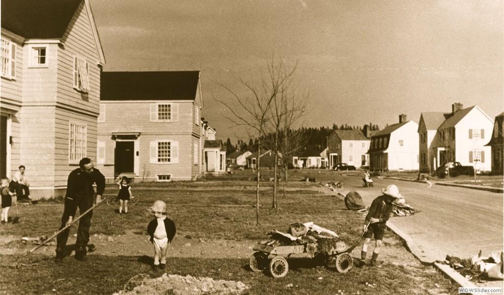 Arvida, de Régina Street shortly after its construction, circa 1940