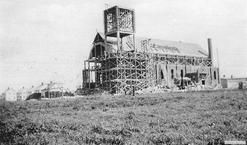 St. Thérèse Church under construction, 1928